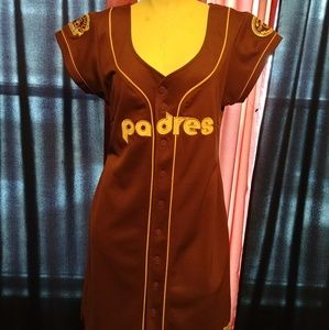 Dresses & Skirts - Brown Throwback Padres Jersey Dress